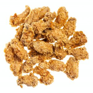 top view of pile of batter fried chicken wings
